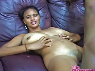 Huge Titty Black Girl Fucked By An Amputee