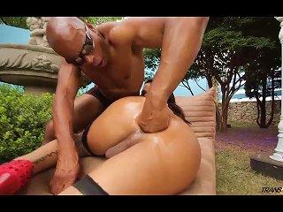 Gorgeous Alessandra Ribeiro Fucked Hard By Lucky Black Guy