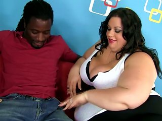 Very Fat Brunette Chick Gives A  And Gets Fucked By Black Dude